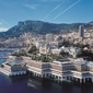 View from the sea at Fairmont Monte Carlo, Monaco