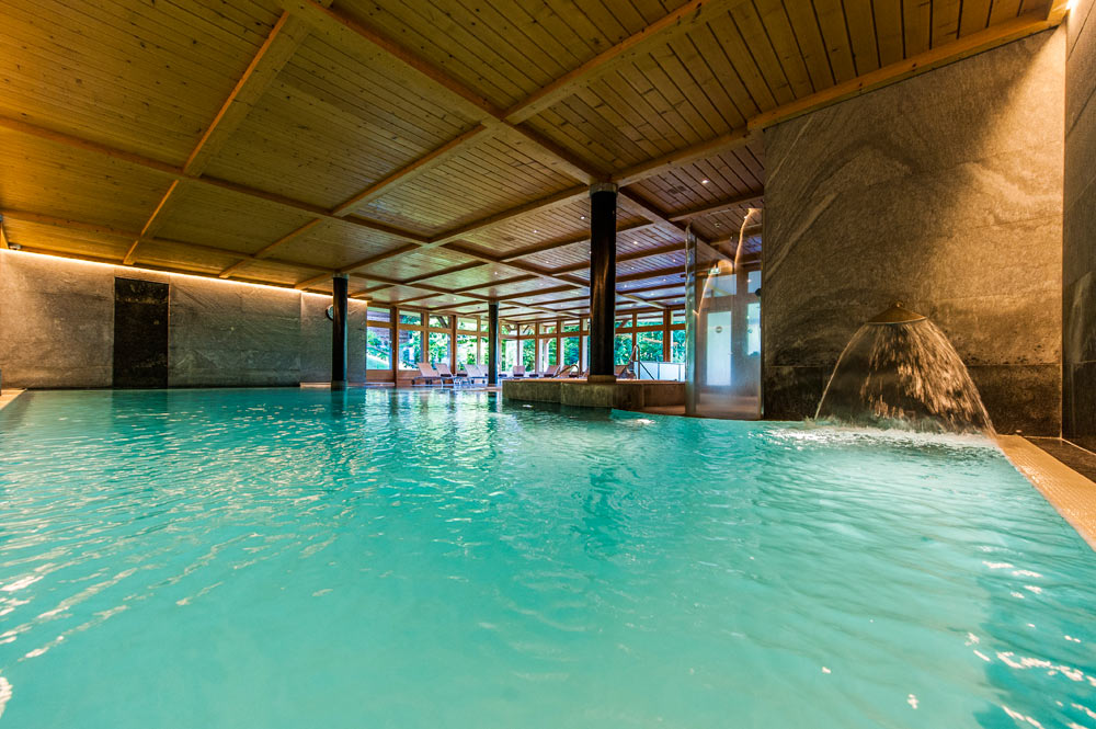 Indoor Pool at Le Grand Bellevue, Switzerland