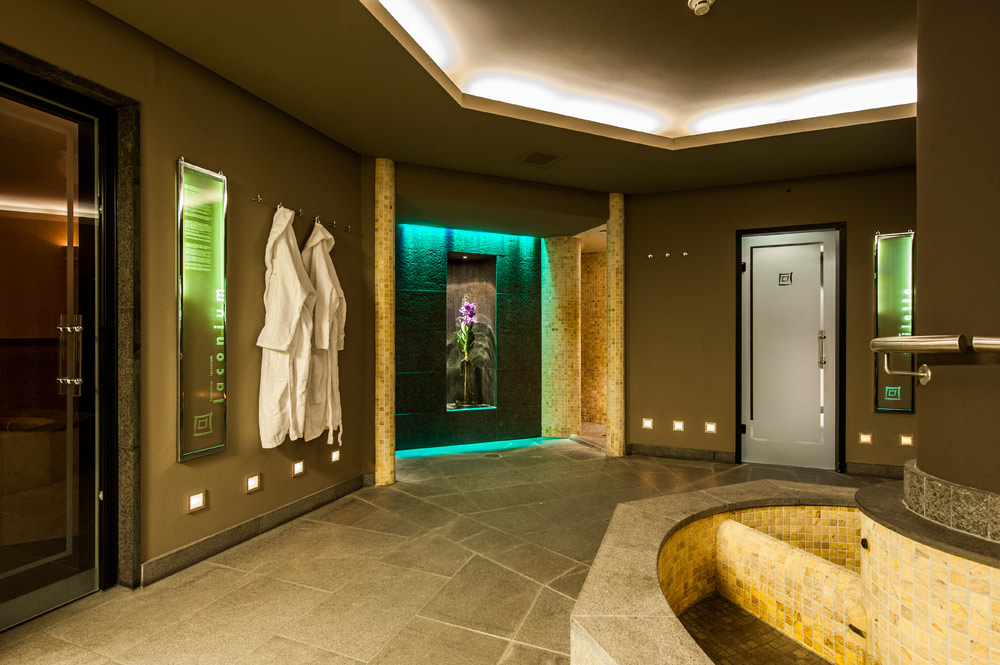Sauna at Le Grand Bellevue, Switzerland