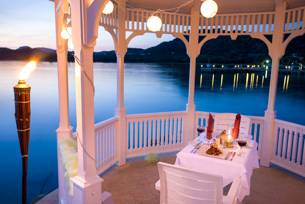 Enjoy Private Gazebo Dining at St. James Club and VillasAntigua