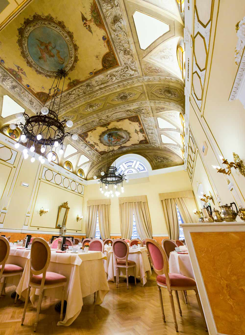 Breakfast Room at Hotel Bernini Palace, Florence, Italy