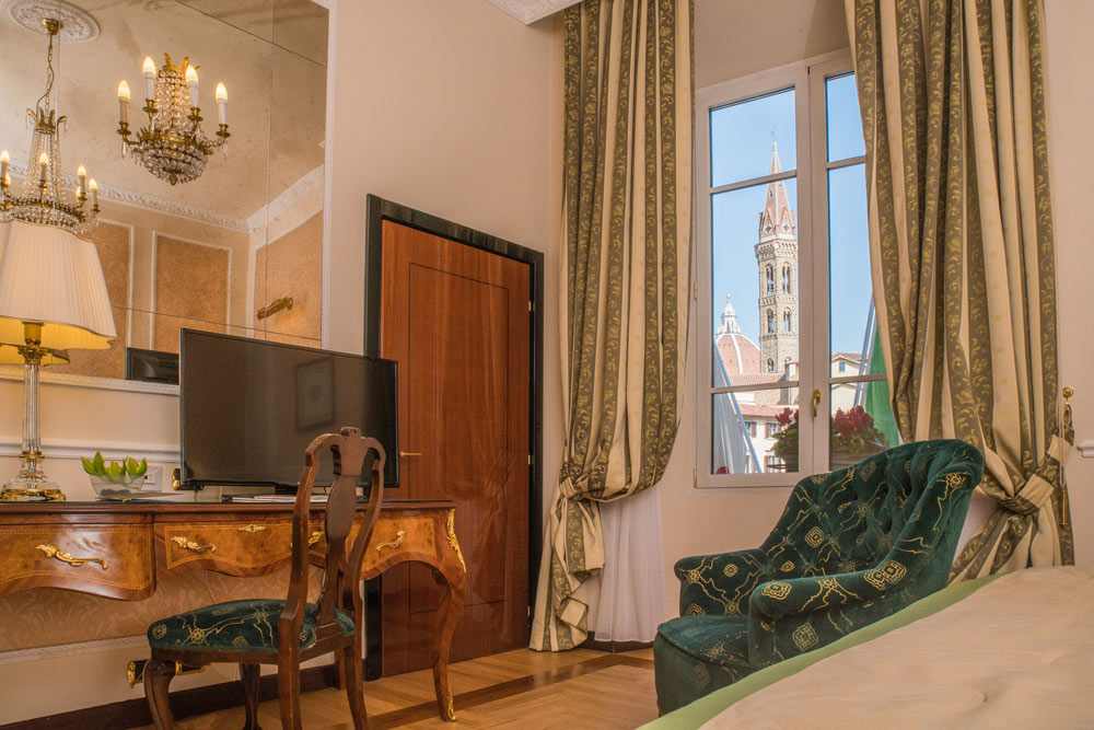 Grand Deluxe Room with Views at Hotel Bernini Palace, Florence, Italy