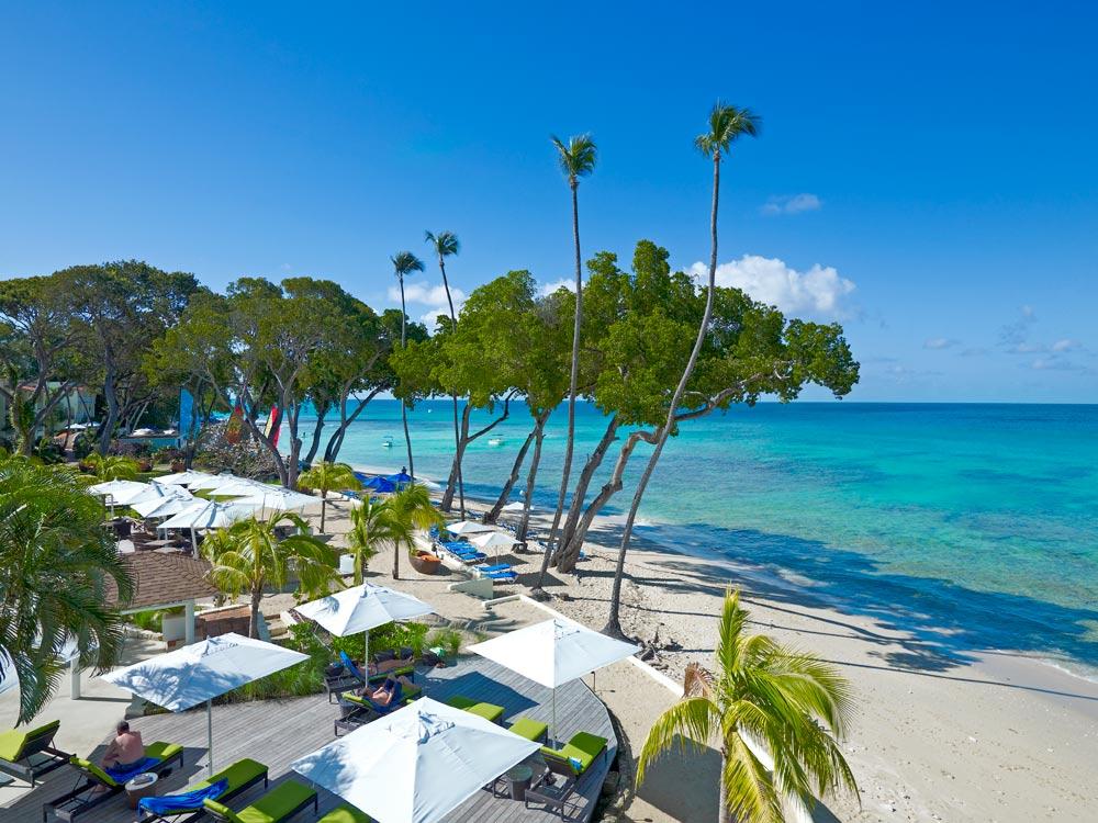 Beach Deck at Tamarind Cove Hotel St JamesBarbadosWest Indies