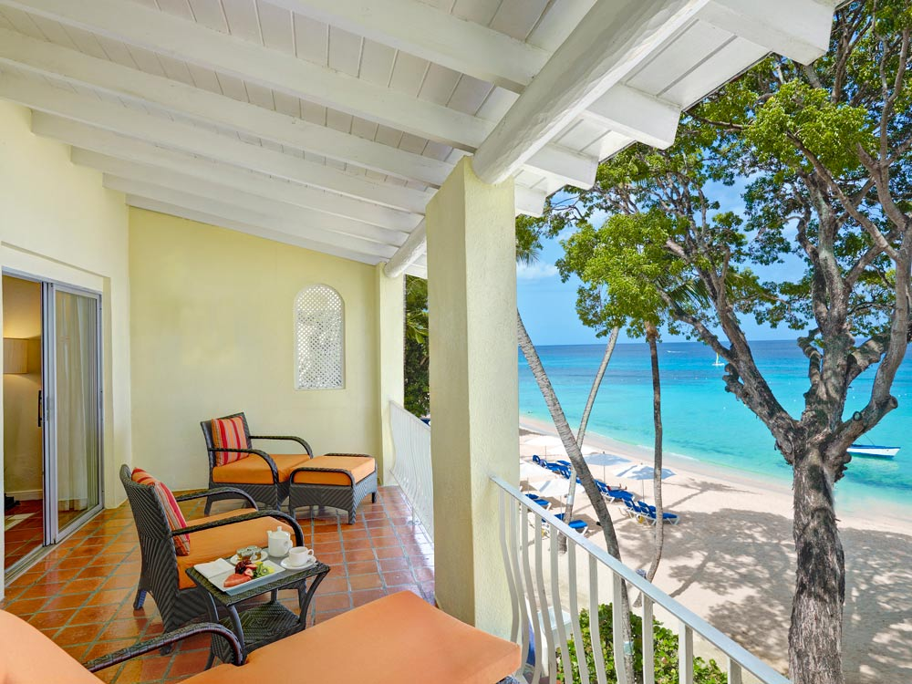 Ocean Front Balcony at Tamarind Cove Hotel | St James, Barbados, West Indies