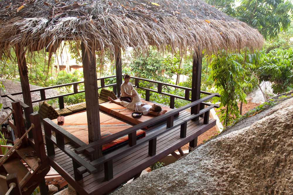 Outdoor Massage at Anantara Rasananda Koh Phangan Villa Resort and Spa