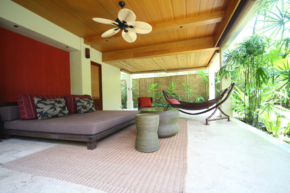 Pool Villa Lounge on Hammock at Anantara Rasananda Koh Phangan Villa Resort and Spa