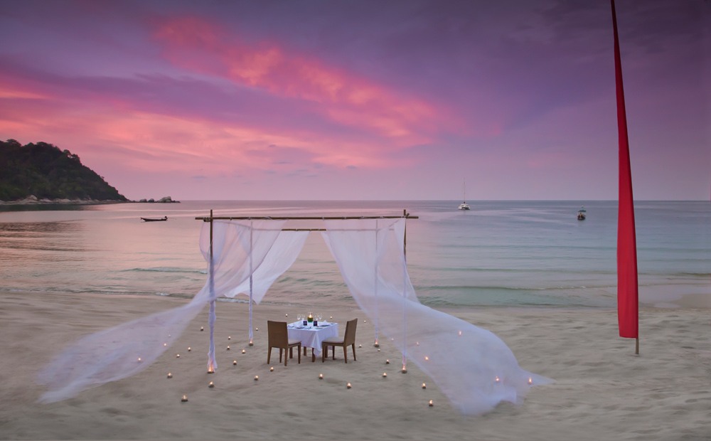 Private Dining Option at Anantara Rasananda Koh Phangan Villa Resort and Spa