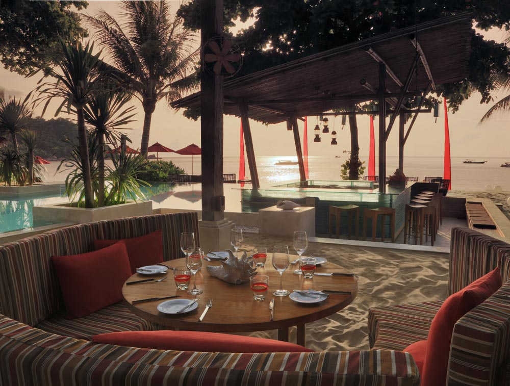 Bistro by the Beach at Anantara Rasananda Koh Phangan Villa Resort and Spa