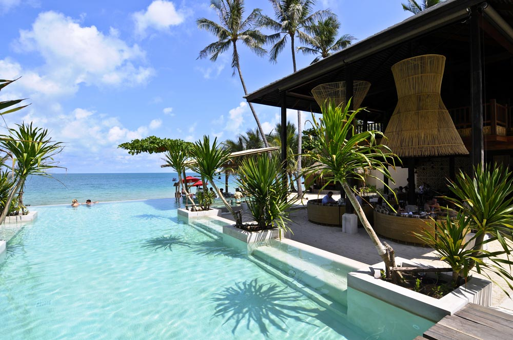 Main Infinity Pool at Anantara Rasananda Koh Phangan Villa Resort and Spa