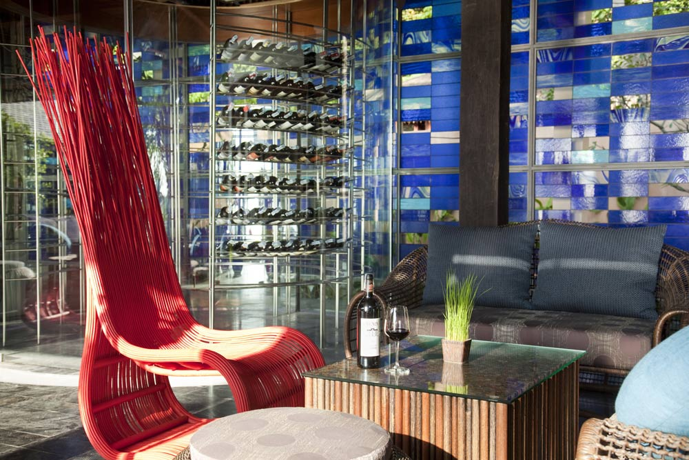 Wine Lounge at Anantara Rasananda Koh Phangan Villa Resort and Spa