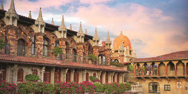Exterior of Mission Inn Hotel and Spa, California