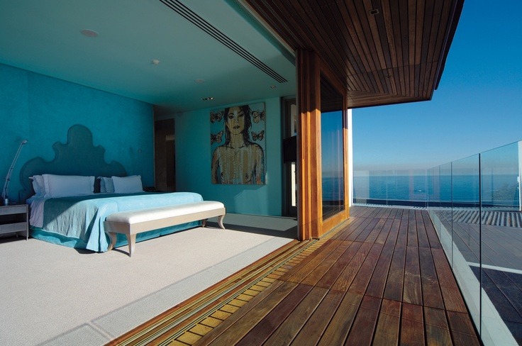 The Aqua Room of the contemporary Ellerman Villa.