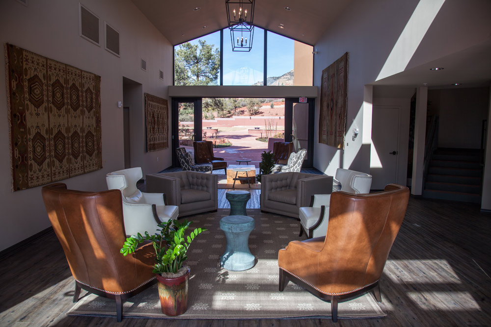 Entry Lounge at Sedona Rouge Hotel and Spa, AZ