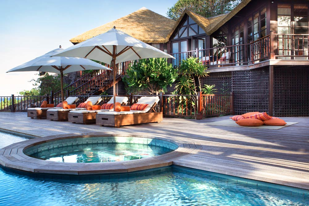Pool and Lounge at Fregate Island Private Seychelles Fregate IslandSeychelles