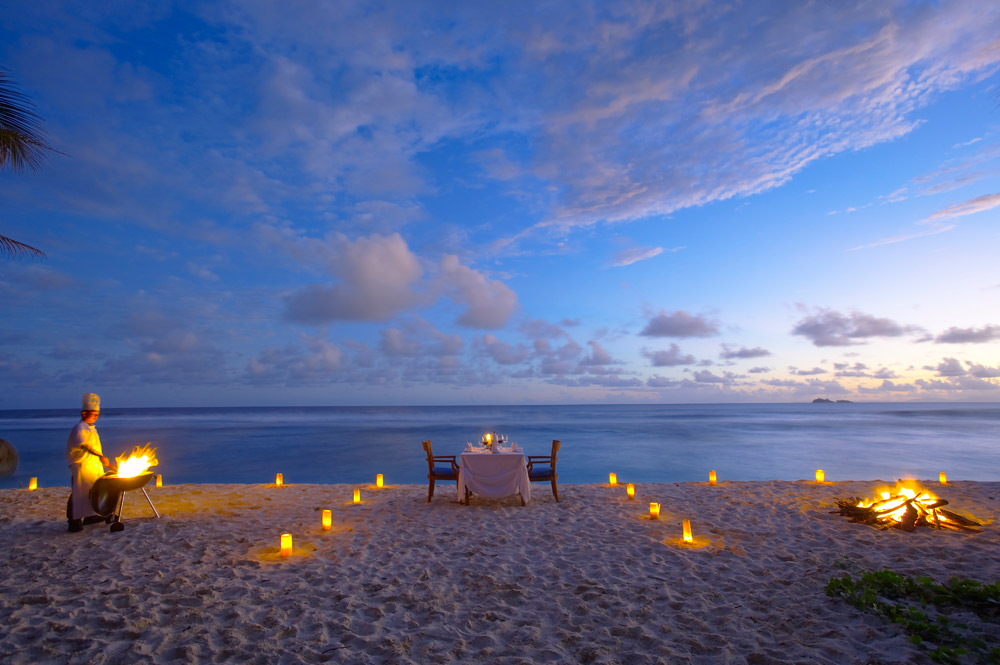 Romantic Beach Dining at Fregate Island Private Seychelles Fregate IslandSeychelles