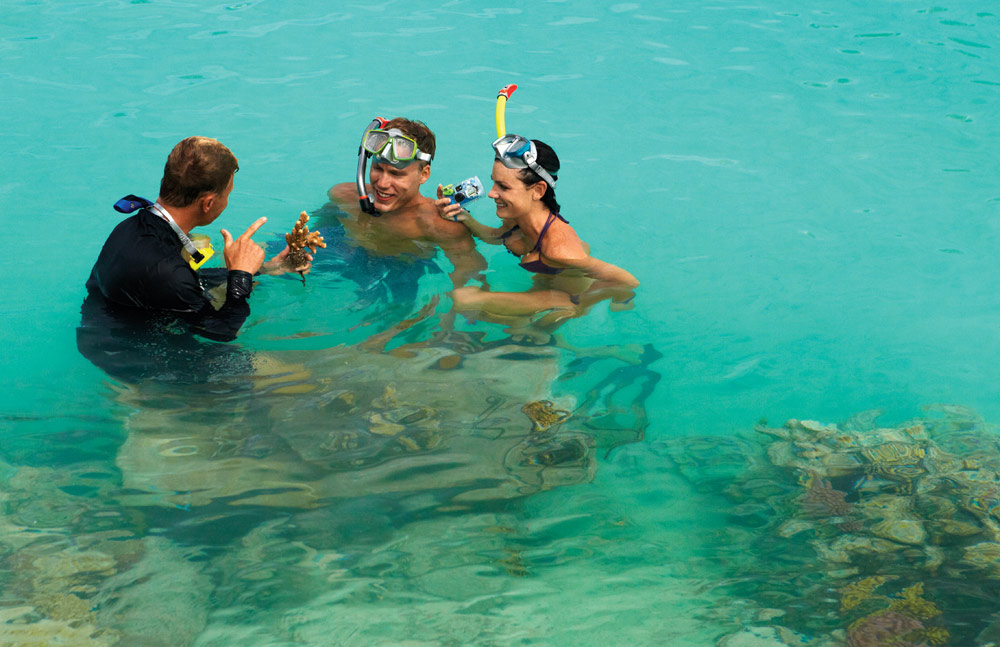 Snorkeling at Four Seasons Resort Bora BoraFrench Polynesia