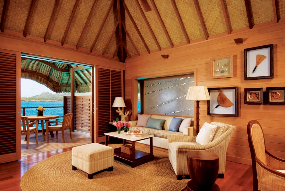 Suite living room atFour Seasons Resort Bora BoraFrench Polynesia