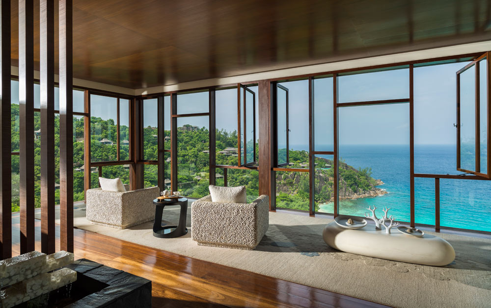 Lounge at Four Seasons Resort Seychelles