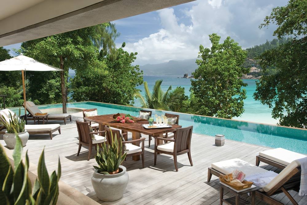 Terrace at Four Seasons Resort Seychelles