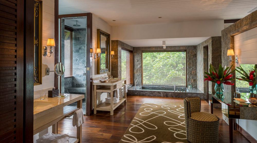 Guest Bathroom at Four Seasons Resort Seychelles