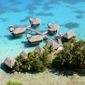 Over-water bungalows at Sofitel Bora Bora MararaBora BoraFrench Polynesia