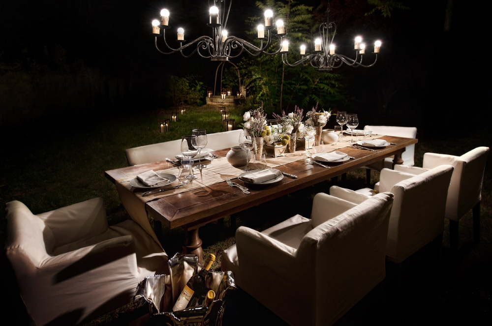 Garden Dining at Hotel ll Salviatino Florence, Italy