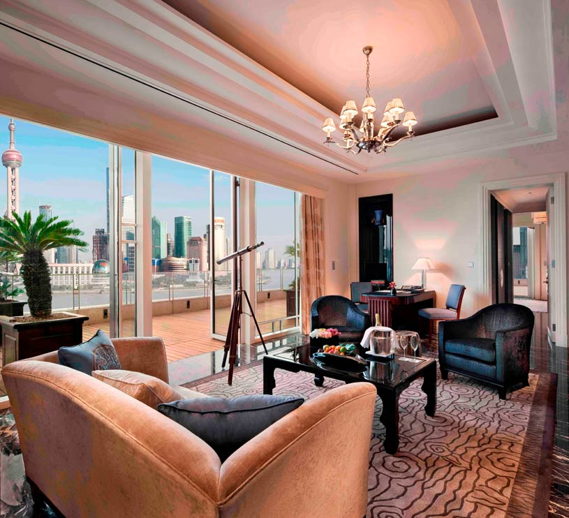 Living Area of Astor Suite