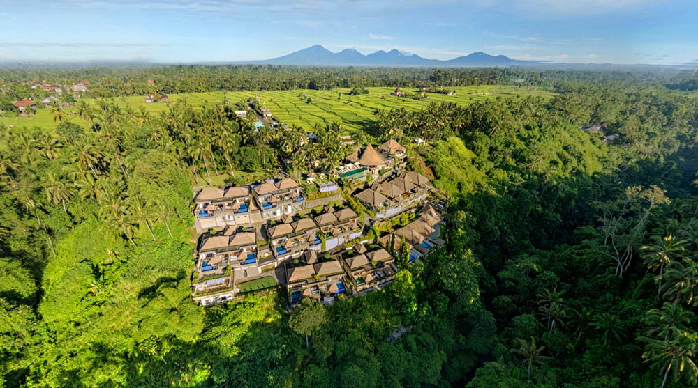 Aerial View of Viceroy Bali