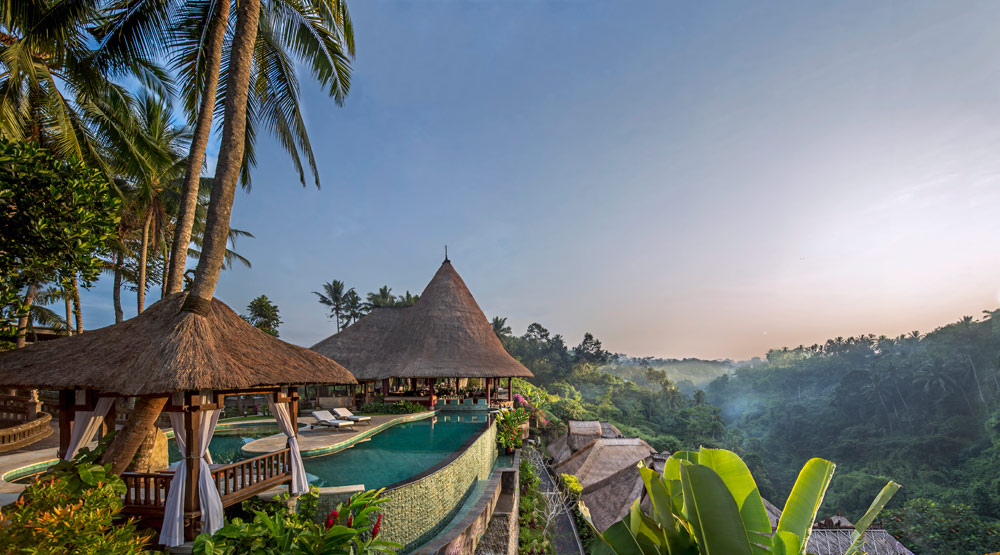 Enjoy beautiful sunrises at Viceroy Bali