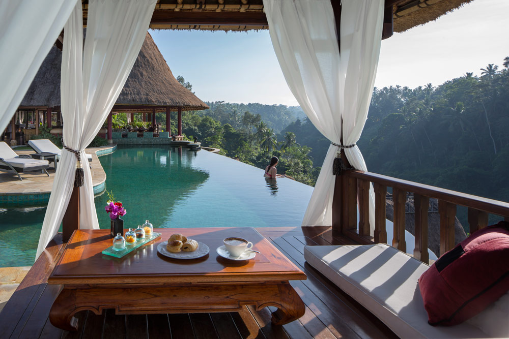 Have breakfast by the pool at Viceroy Bali