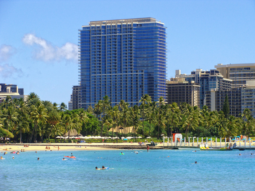 Trump International Hotel and Tower Waikiki Beach Walk Exterior