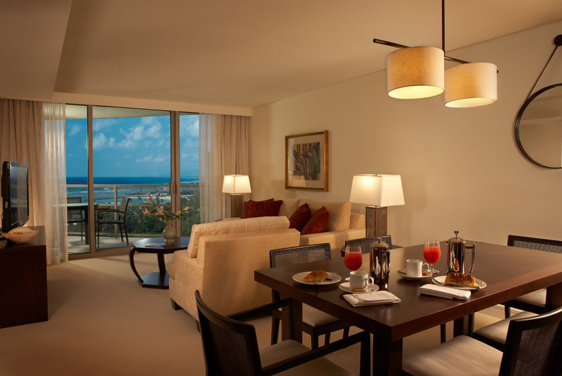 Trump International Hotel and Tower Waikiki Beach Walk Suite Living Room