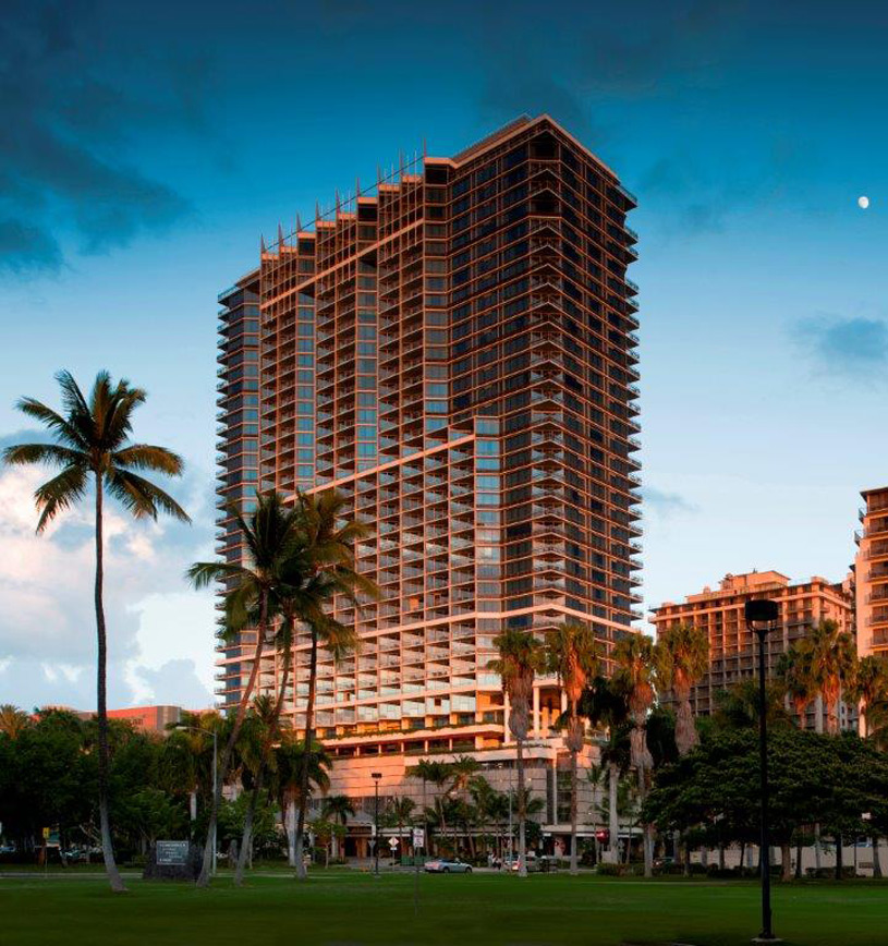 Trump International Hotel and Tower Waikiki Beach Walk Sunset