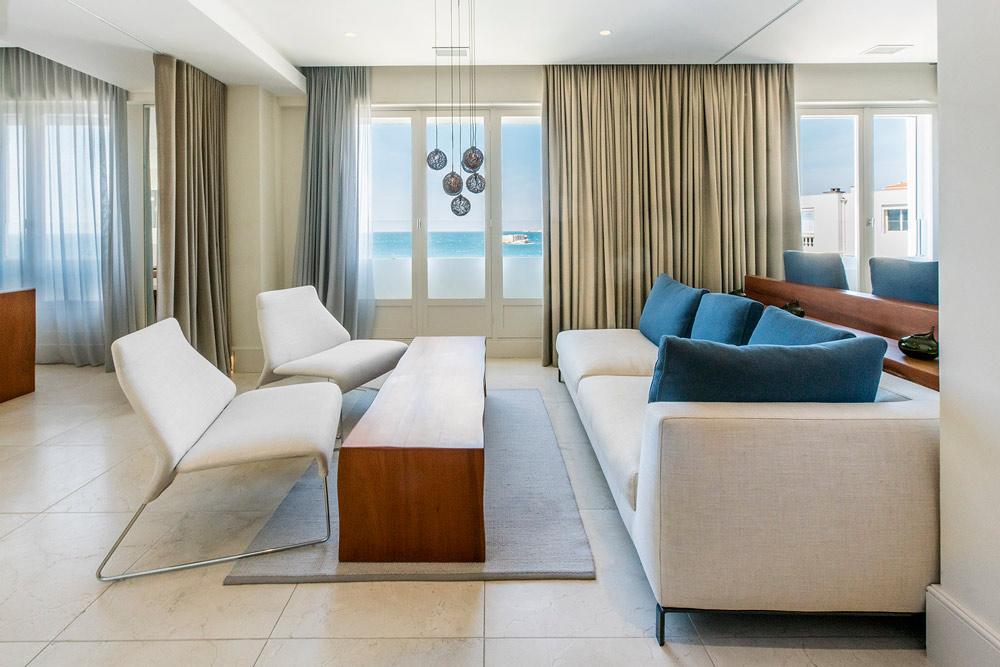Ricciotti Suite Living Room at Le Petit Nice PassedatMarseilleFrance