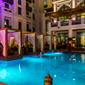 Outdoor Pool and Lounge at Vida Downtown Dubai