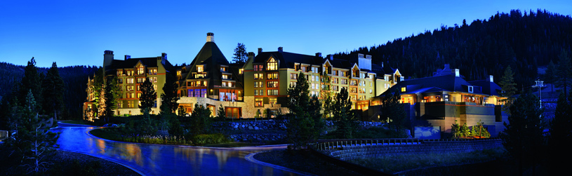 The Ritz-Carlton Lake Tahoe Exterior at Night