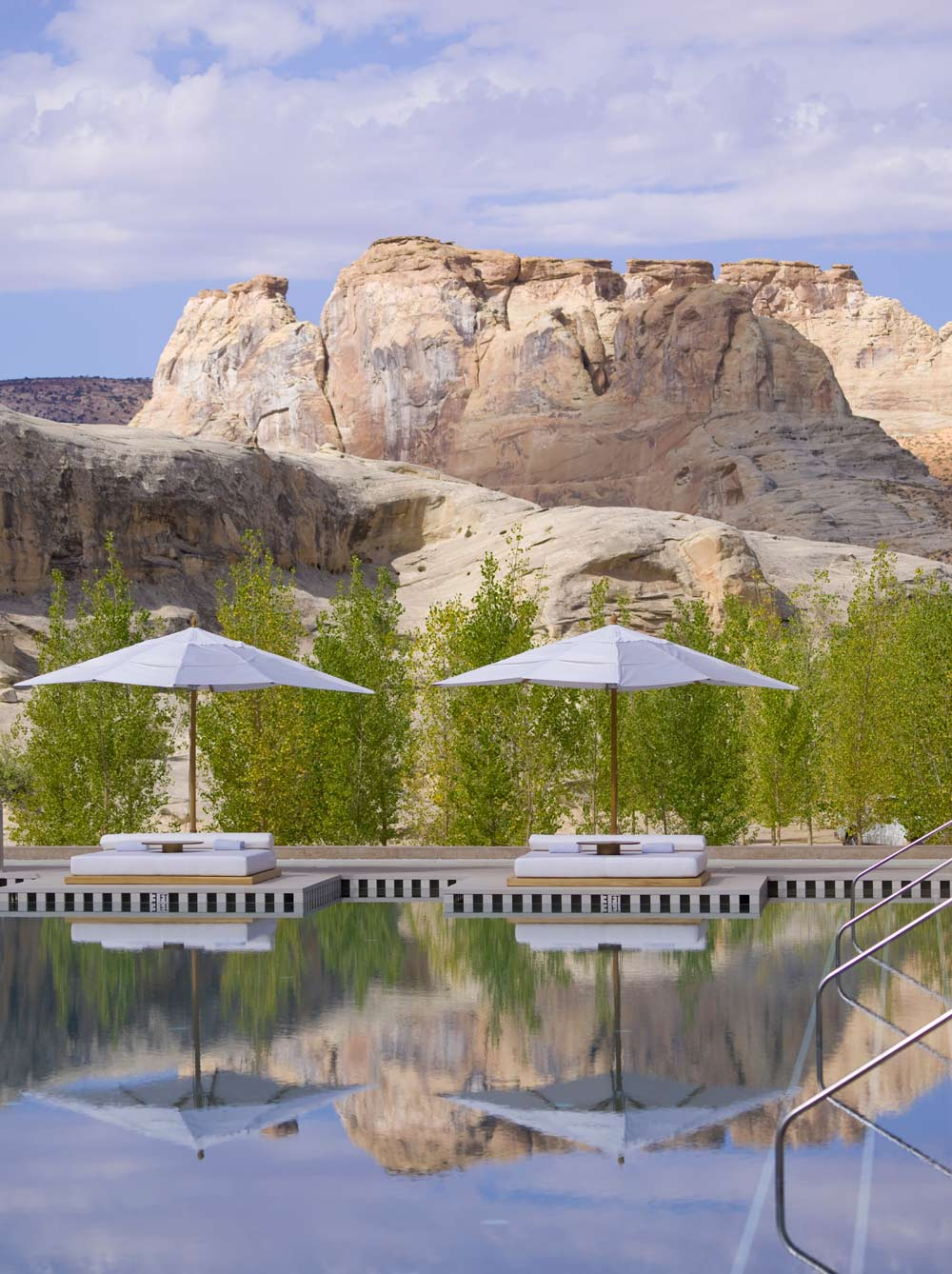 Poolside at Amangiri in Canyon Point, Southern Utah courtesy of Amanresorts