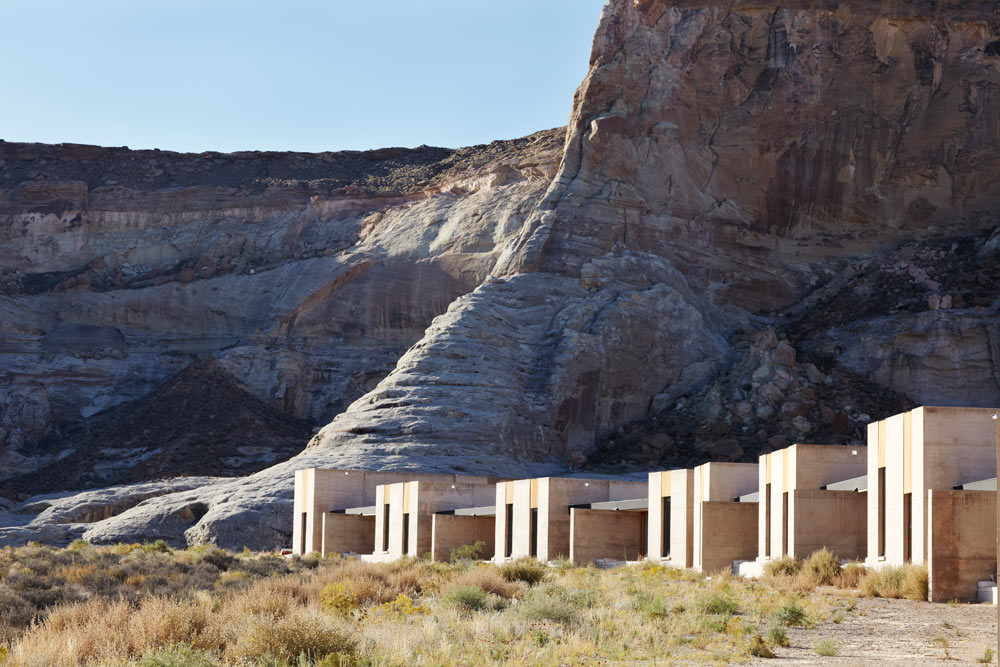 View of Amangiri in Canyon PointSouthern Utah from the Sand Dunes courtesy of Amanresorts