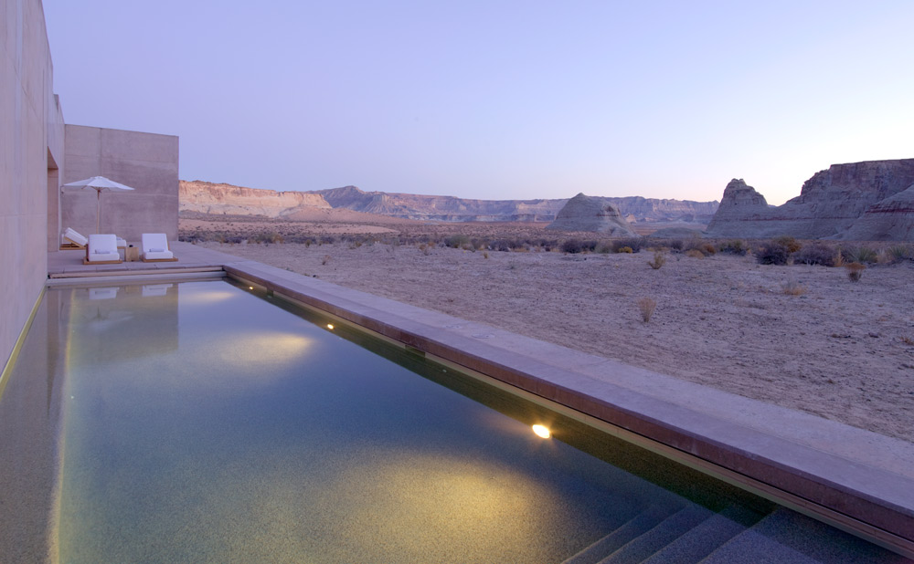 Girijaala Suite Pool at Amangiri in Canyon Point, Southern Utah courtesy of Amanresorts