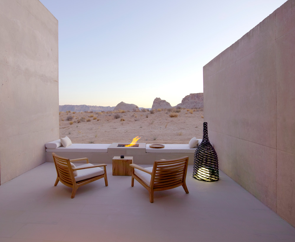 Amangiri Suite Desert Lounge at Amangiri in Canyon Point, Southern Utah courtesy of Amanresorts