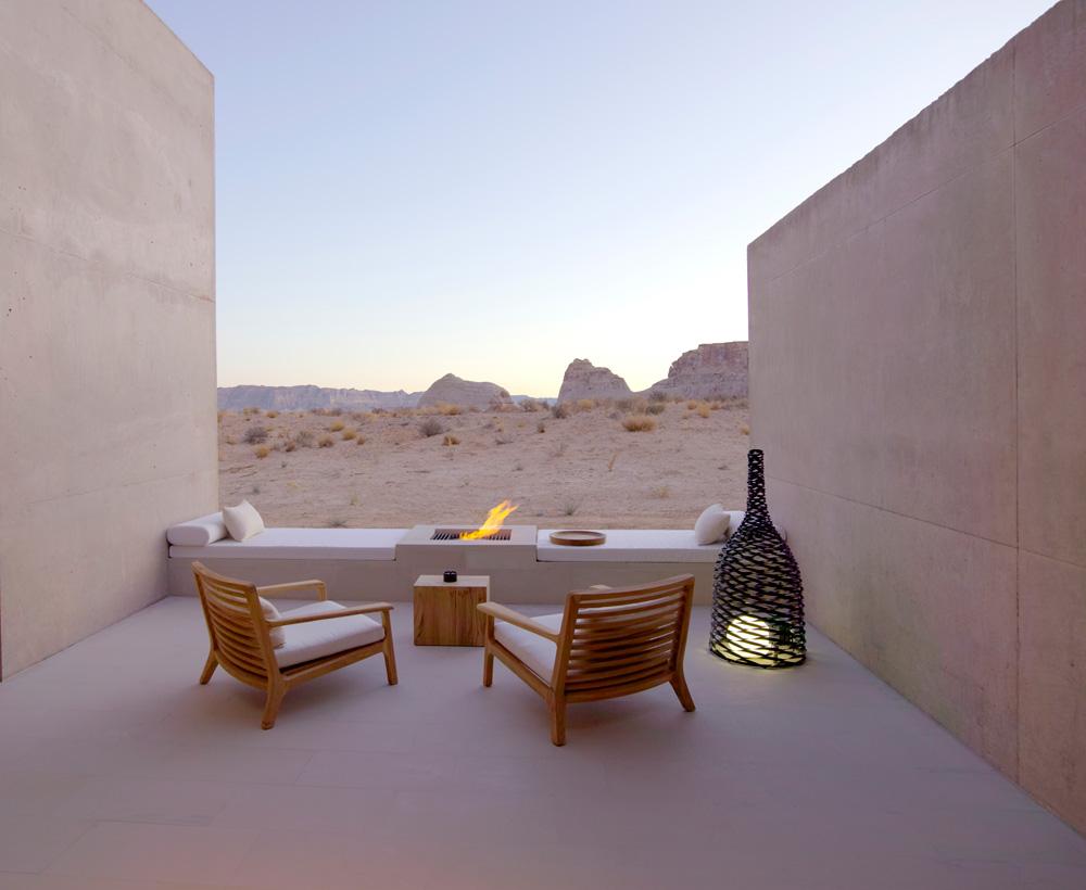 Amangiri Suite Desert Lounge at Amangiri in Canyon PointSouthern Utah courtesy of Amanresorts