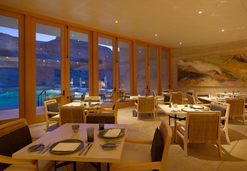 Dining Room at Amangiri in Canyon Point, Southern Utah courtesy of Amanresorts
