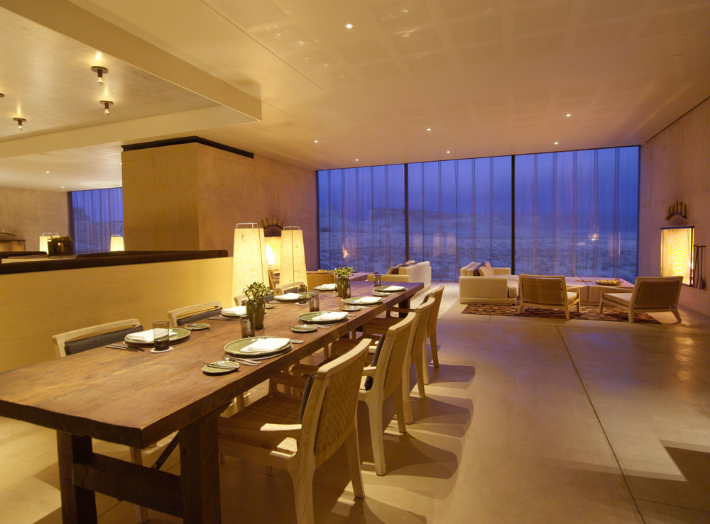 Private Dining at Amangiri in Canyon PointSouthern Utah courtesy of Amanresorts