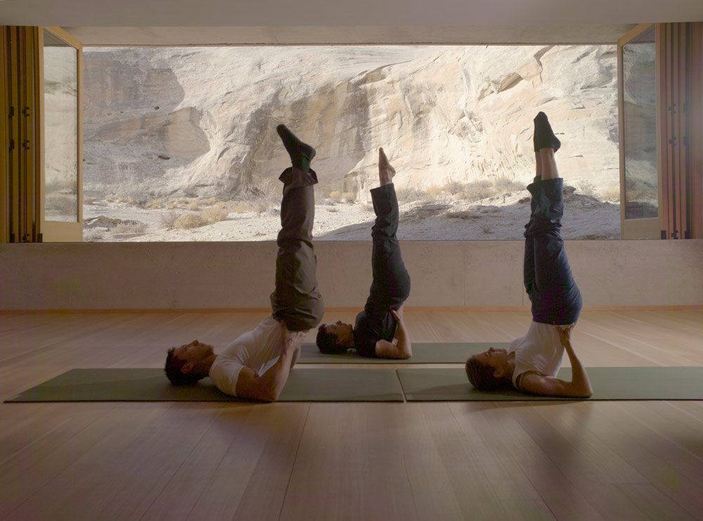 Yoga Pavilion at Amangiri in Canyon Point, Southern Utah courtesy of Amanresorts