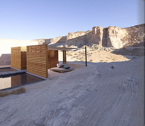 Aman Spa Outdoor Treatment Pavilion at Amangiri in Canyon PointSouthern Utah