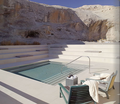 Aman Spa Step Pool at Amangiri in Canyon Point, Southern Utah courtesy of Amanresorts