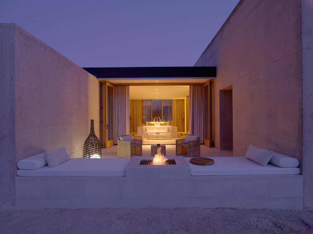 The Girijaala Suite's Desert Lounge at Amangiri in Canyon Point, Southern Utah courtesy of Amanresorts