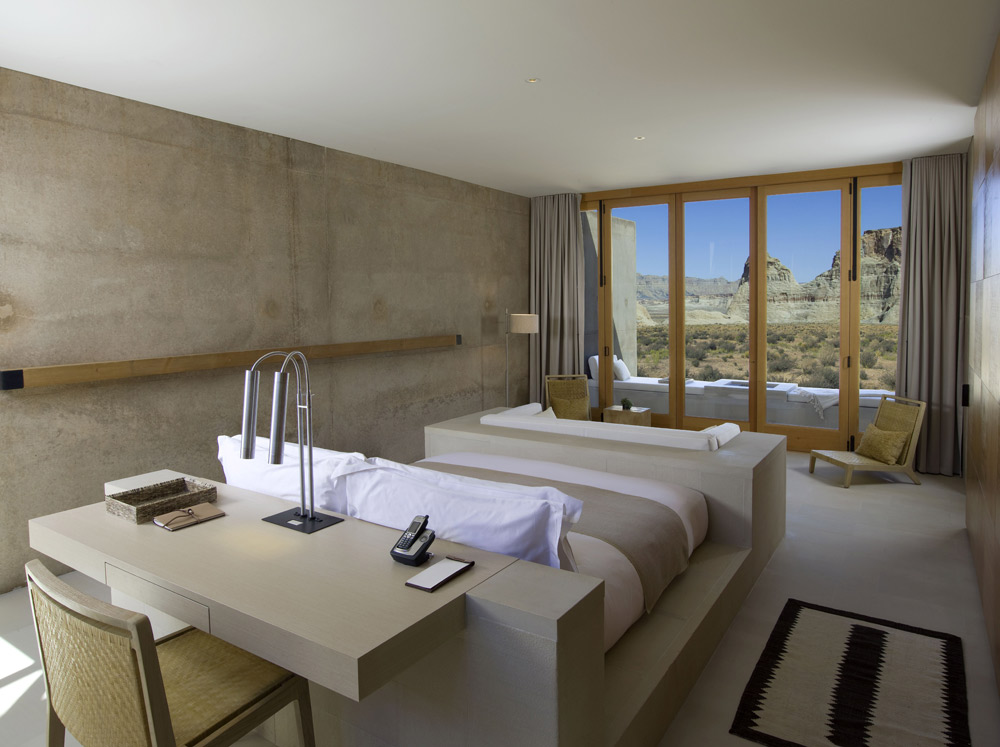 Mesa View Suite Bedroom at Amangiri in Canyon PointSouthern Utah courtesy of Amanresorts