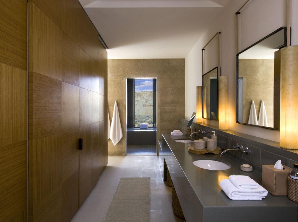 Mesa View Suite Bathroom at Amangiri in Canyon PointSouthern Utah courtesy of Amanresorts