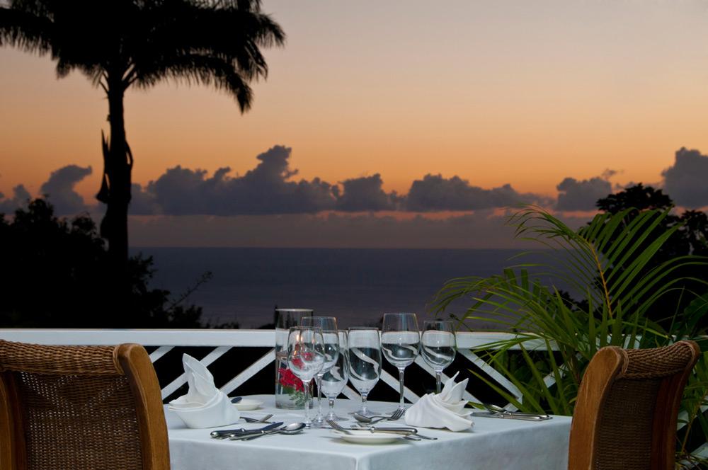 Restaurant at Montpelier Plantation Inn West Indies, St. Kitts and Nevis